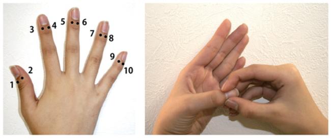 イライラ解消効果のある爪もみの方法